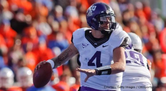 TCU QB Casey Pachall's 2 TDs helped the Horned Frogs win their Big 12 debut.
