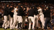 Nine games sooner than in 2010, the San Francisco Giants clinched the NL West title vs. the Padres.