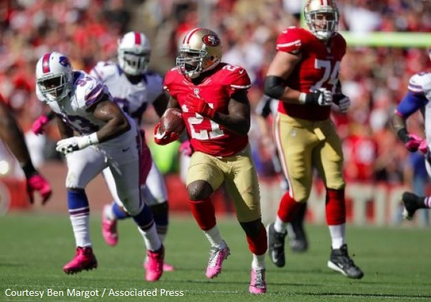 RB Frank Gore (seen here in 2012) had remained one of the lone constants in an offense that struggled to put up big numbers throughout the last decade.