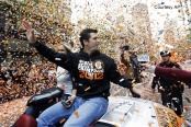 At only 25 years old, this man has been in these parades more times than some of the great players in MLB history.