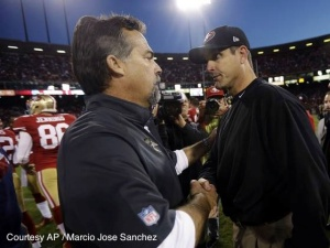 Rams head coach Jeff Fisher (left) hoped the Rams could snap a three-game losing streak, while the 49ers' Jim Harbaugh hoped to win three straight for the first time this season. Neither coach got what they wanted when all was said and done.