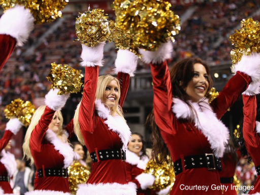 We're celebrating Christmas with MSR's NFL Power Rankings the only way we know how. (No, not with cheerleaders...)