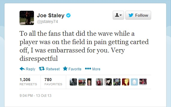Joe Staley Tweet
