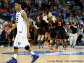 It's unexpected upsets like this one - #14 Mercer over #3 Duke - that will always get in the way of someone predicting the perfect bracket.
