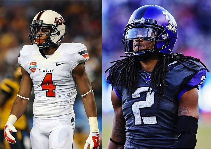 Whether it's Oklahoma State's Justin Gilbert (left) or TCU's Jason Verrett, the 49ers need a cornerback.