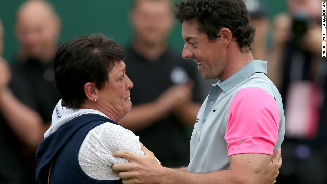 McIlroy shared a meaningful moment with his mother on Sunday after his Open Championship victory.