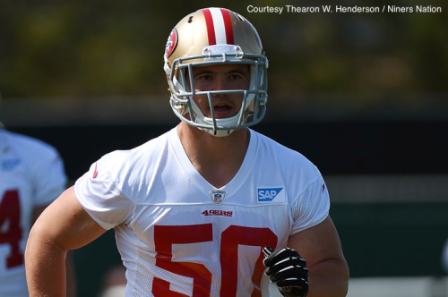 Could 3rd-Round pick Chris Borland start at ILB this season?
