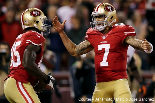 At least Colin Kaepernick's happy to see him back.