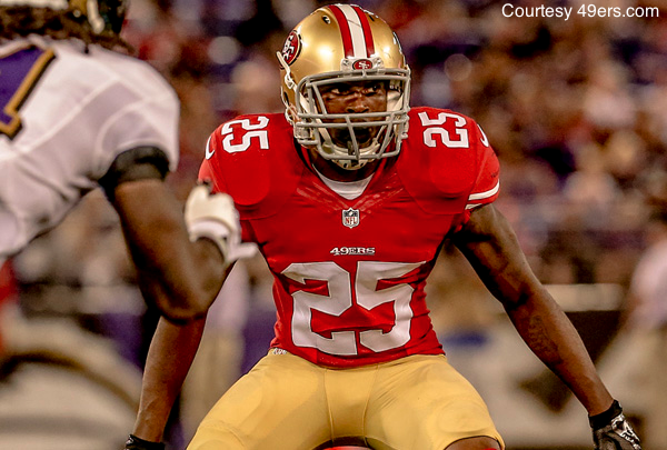 Rookie 1st-round pick Jimmie Ward was literally all over the field during the 49ers' preseason loss in Baltimore.