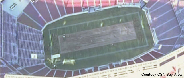 This was the sight of Levi's Stadium's field the other day. How much of a problem will this be for the 49ers in their inaugural season at the new venue?