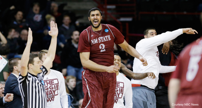 NMSU's Sim Bhullar, the first Indian-born player signed to an NBA contract, hopes to make the final Sacramento Kings roster.