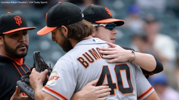 Giants SP Madison Bumgarner had another road postseason gem in their Game 1 victory in the NLCS.