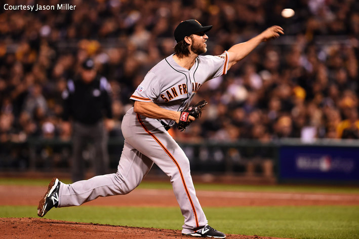 NLCS MVP Madison Bumgarner would finish the series with two impressive outings against the Cardinals.
