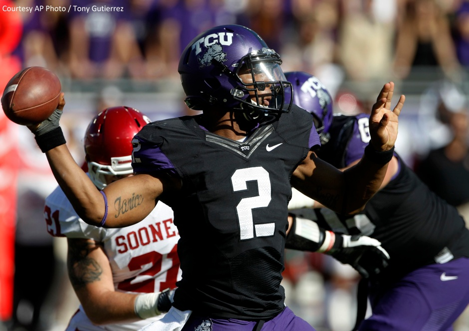 TCU QB Trevone Boykin had almost 400 total yards of offense in a stunning 37-33 win over 4th-ranked Oklahoma.