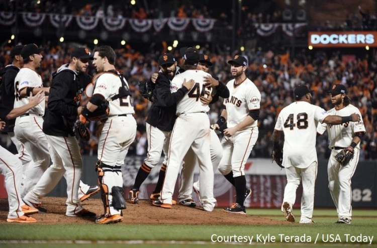 The San Francisco Giants are onto the NLCS after an unexpected NLDS victory over the Washington Nationals.
