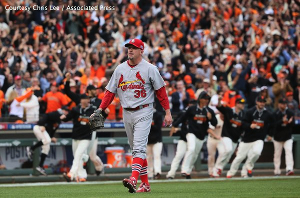 Randy Choate's game-ending error in Game 3 was one of many uncharacteristic gaffes the Cardinals made in the NLCS.