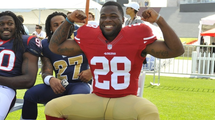 Rookie RB Carlos Hyde should be all smiles, with a bright future as the heir apparent to Frank Gore.