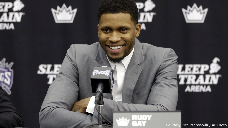 Sacramento Kings forward Rudy Gay was all smiles after signing a 3-year, $40 million contract extension earlier this week.
