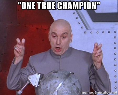 """what a lot of people thought after Bowlsby stubbornly defended the Big 12's """"One True Champion"""" mantra ..."""
