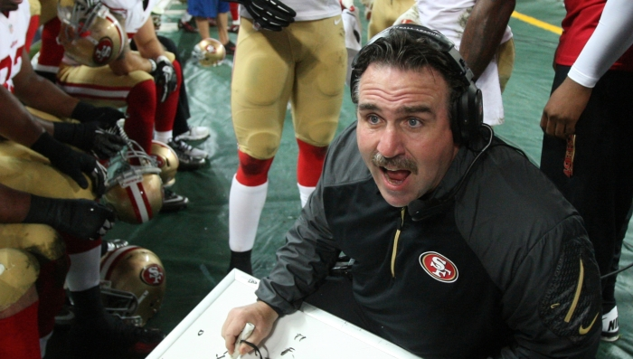 Jim Tomsula was interim head coach in 2010. He is now pegged as head coach for 2015 and beyond.