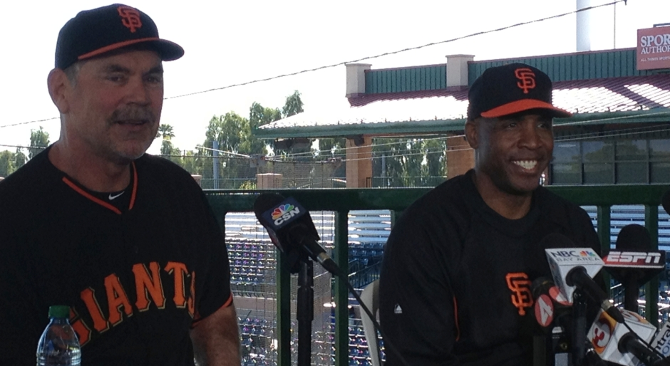 Bonds sure looked happier - and thinner - while attending Spring Training last year with the Giants.