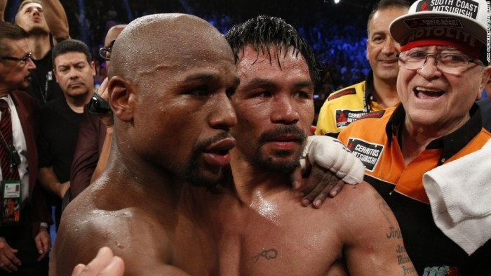 Both fighters, apparently, thought they won. Only one of them was delusional.