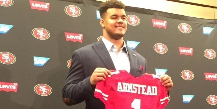 After months of speculation, Arik Armstead was correctly predicted as being taken by the 49ers in the first round of the 2015 NFL Draft.