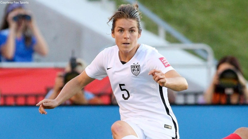 USWNT forward Kelley O'Hara scored the match-clinching goal in the 84th minute to help send the United States to the Women's World Cup Final.
