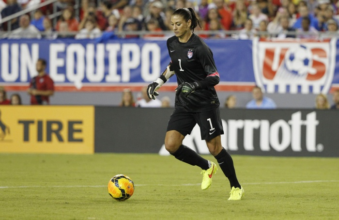 US Goalkeeper Hope Solo made the necessary saves to preserve the 1-0 victory.