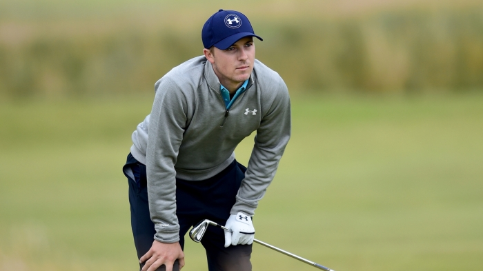 Jordan Spieth's bid at the Calendar Grand Slam ended after missing a birdie putt on 18 in the final round of the Open Championship.