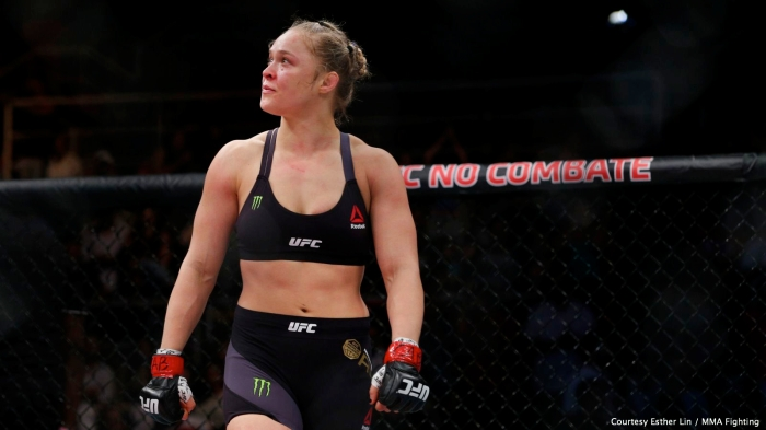 """Rowdy"" Ronda Rousey demolished upstart Bethe Correia in 34 seconds to retain the Women's UFC Bantamweight title on Saturday."
