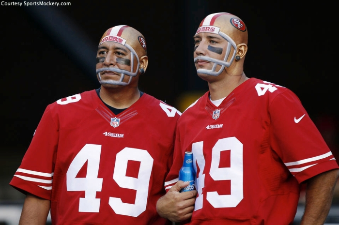 """""""Is it because we paint helmets on our heads? ... I think it's because we paint helmets on our heads."""""""